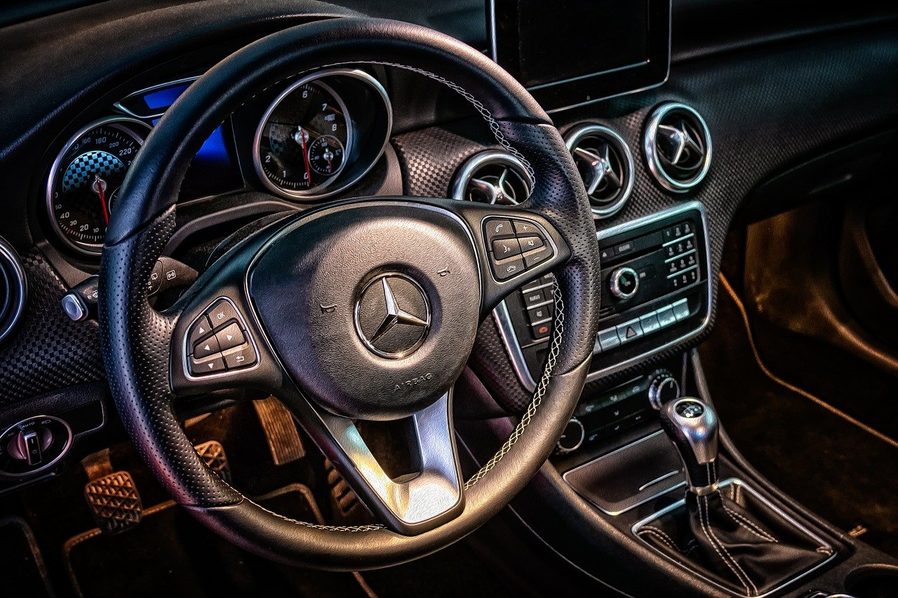 mercedes, cockpit, interior
